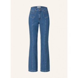 SEE BY CHLOÉ   Flared Jeans 45E Truly Navy Damen 99% Baumwolle 1% Elasthan nett PEWMXLR